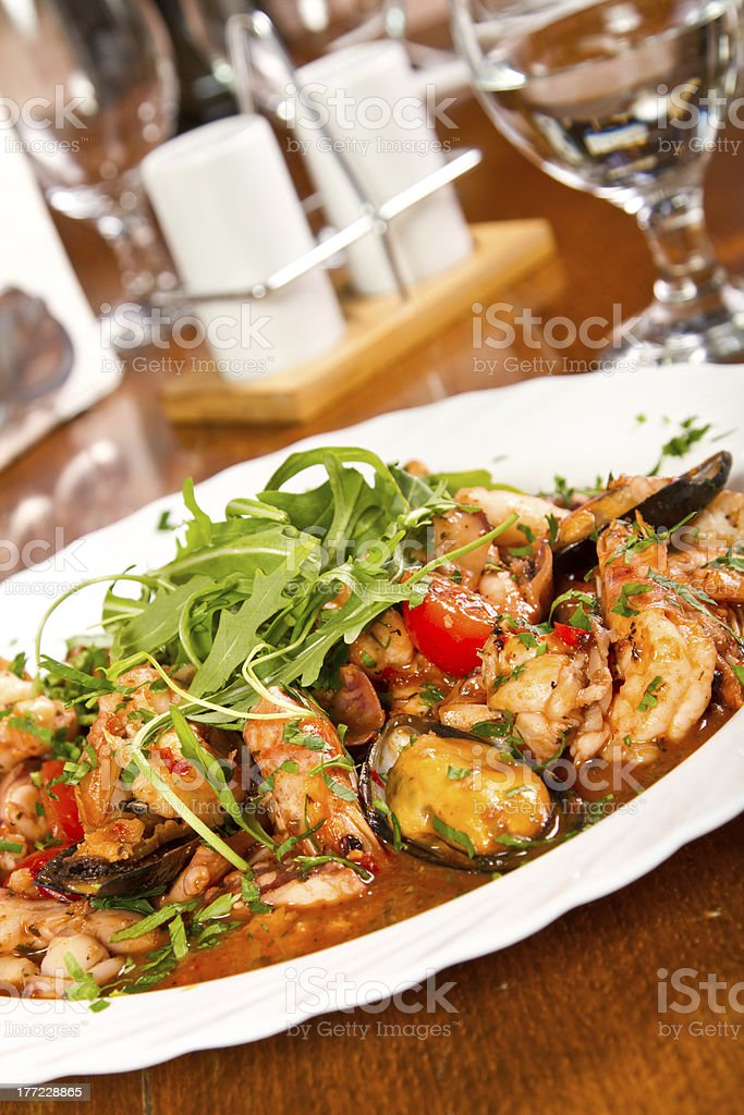 Seafood stew royalty-free stock photo