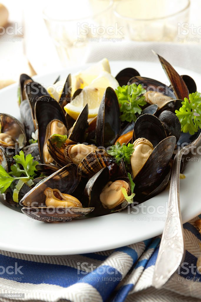 Seafood Stills: Mussels stock photo