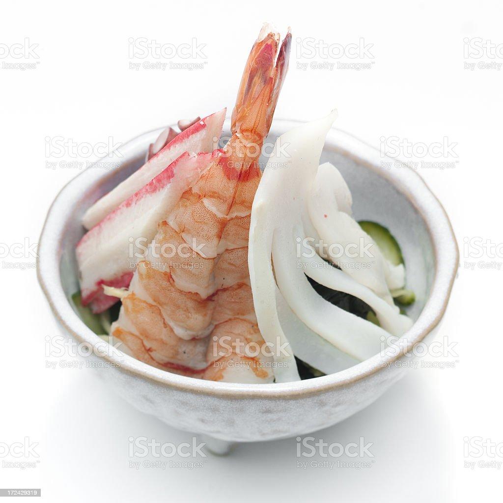 Seafood sunomono salad royalty-free stock photo