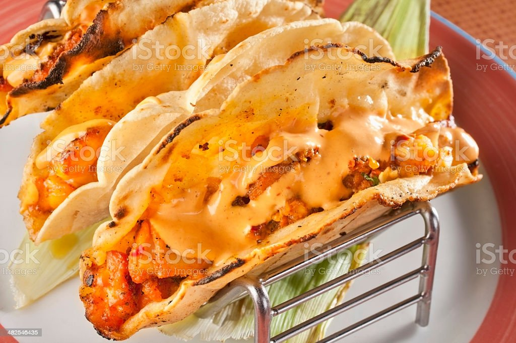 Seafood Tacos royalty-free stock photo