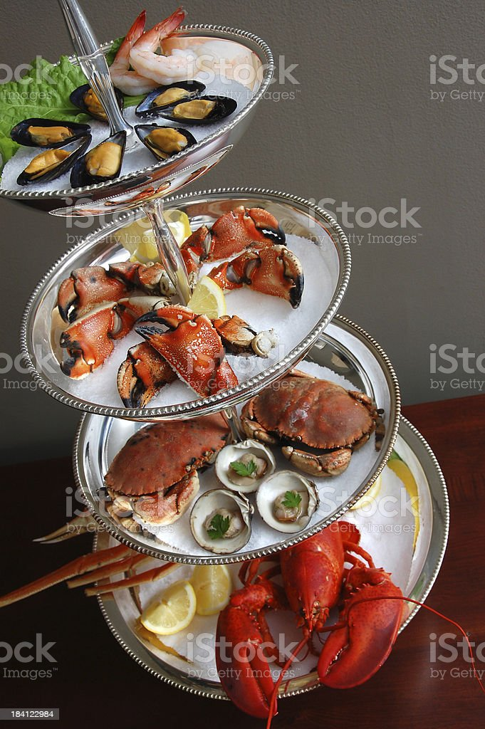Seafood Tower stock photo