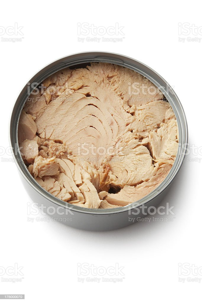 Seafood: Tuna in Can stock photo