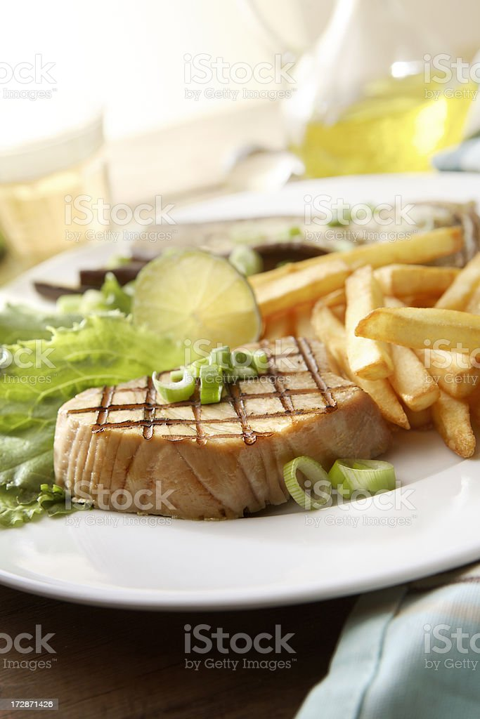 SeafoodStills: Tuna Steak royalty-free stock photo