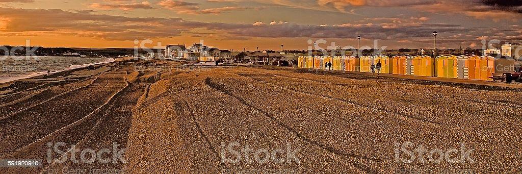 Seaford sunset stock photo