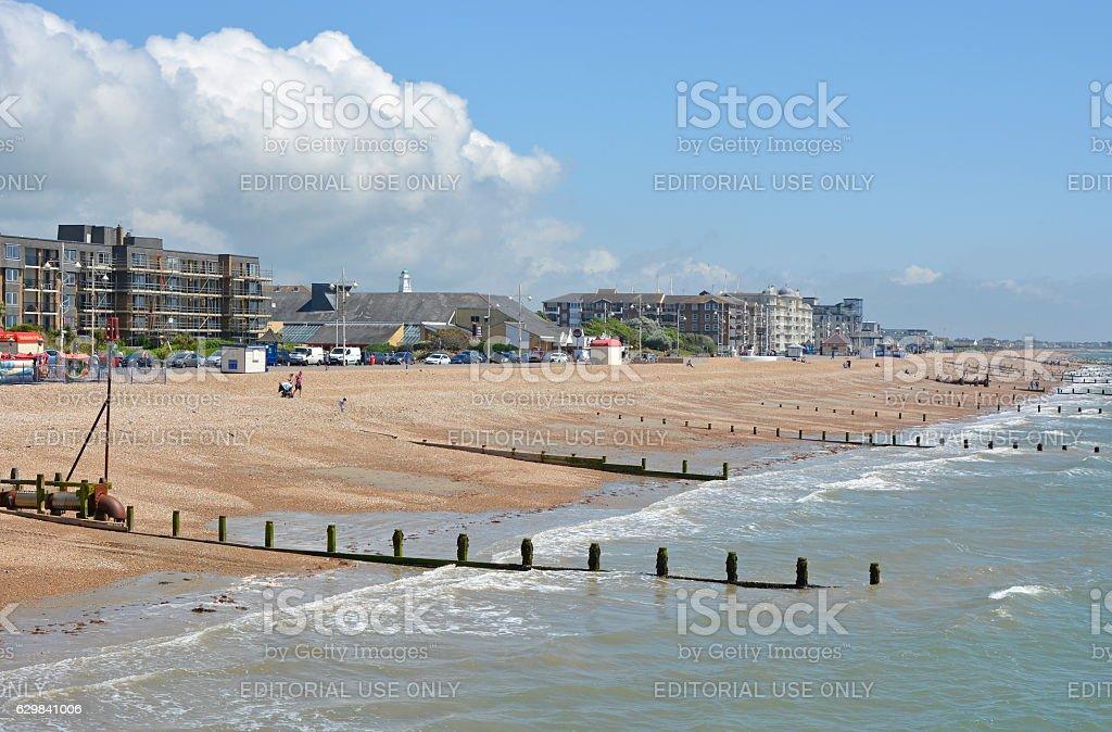 Seafront at Bognor Regis, England stock photo