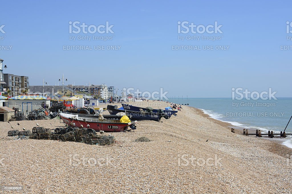 Seafront at Bognor. Sussex. England stock photo