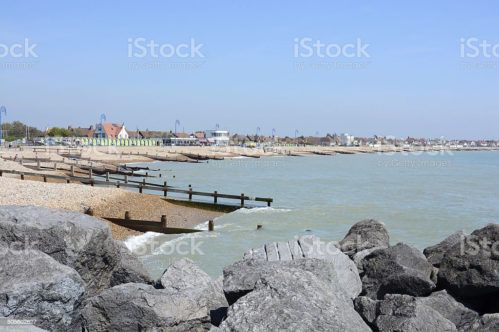 Seafront at Felpham. Sussex. England stock photo