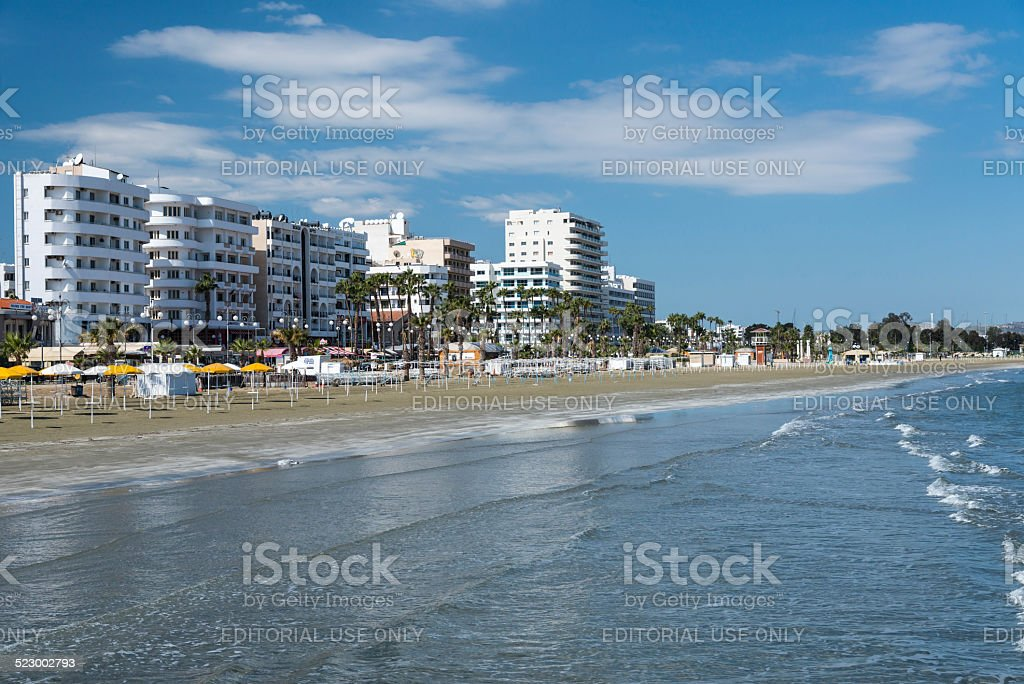 Seafront at Larnaca in Cyprus stock photo