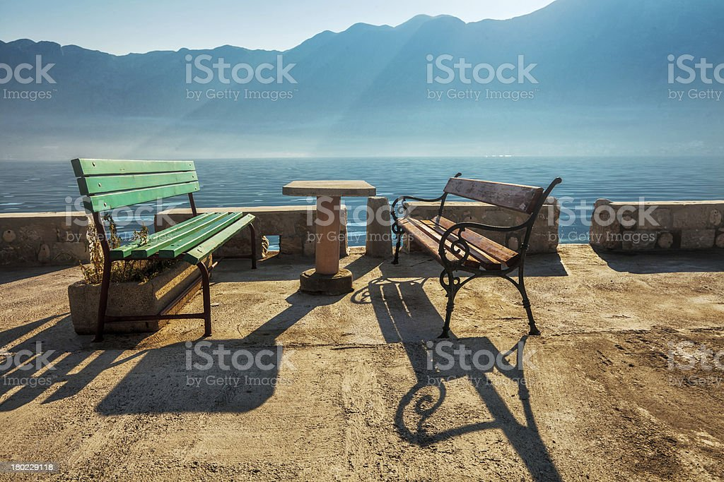 seafront at morning royalty-free stock photo