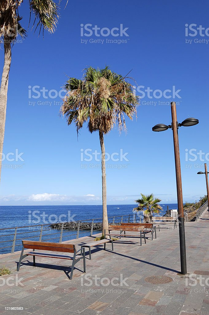 Seafront at Playa de las Am?ricas, Tenerife island, Spain stock photo