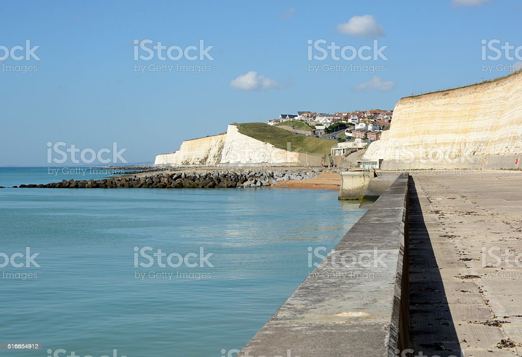 Seafront at Rottingdean, England stock photo
