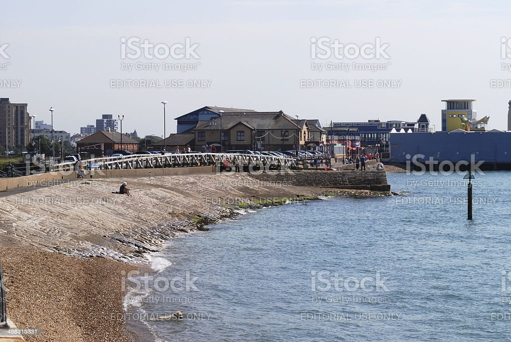 Seafront at Southsea. Hampshire. UK royalty-free stock photo