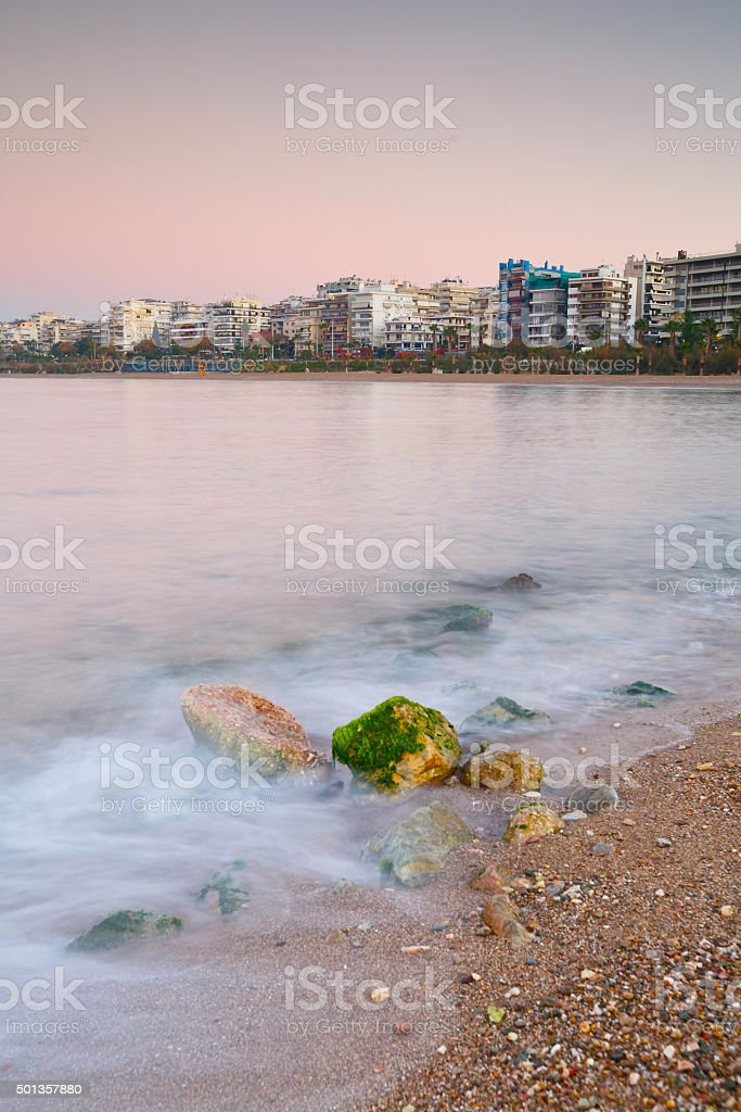 Seafront in Athens. stock photo