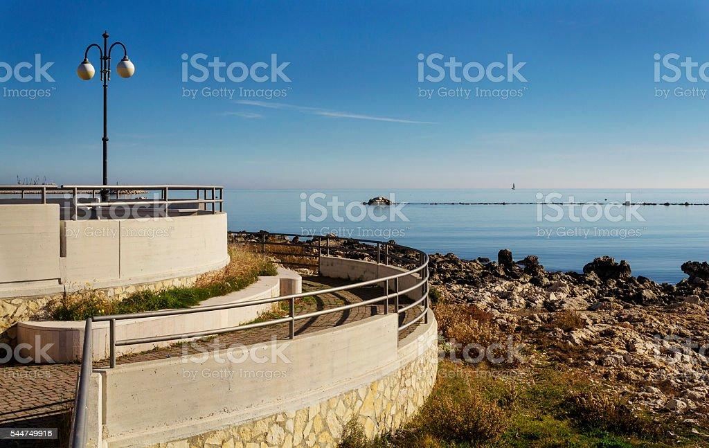 Seafront in Manfredonia - Gargano stock photo