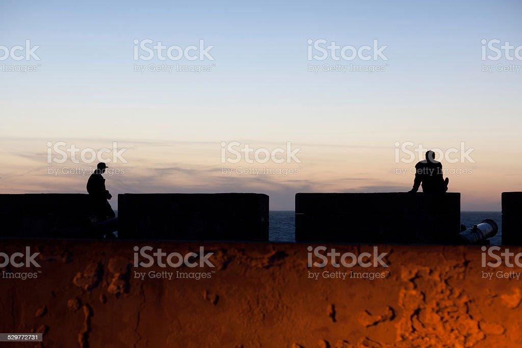 Sea-front of Essaouira Fortress, Morocco stock photo