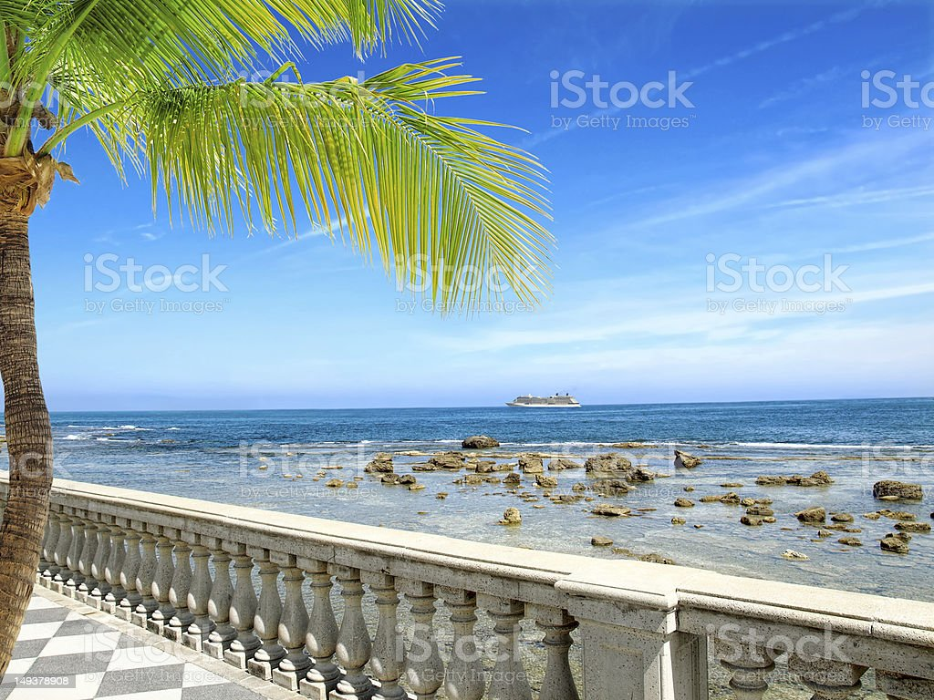 Seafront royalty-free stock photo