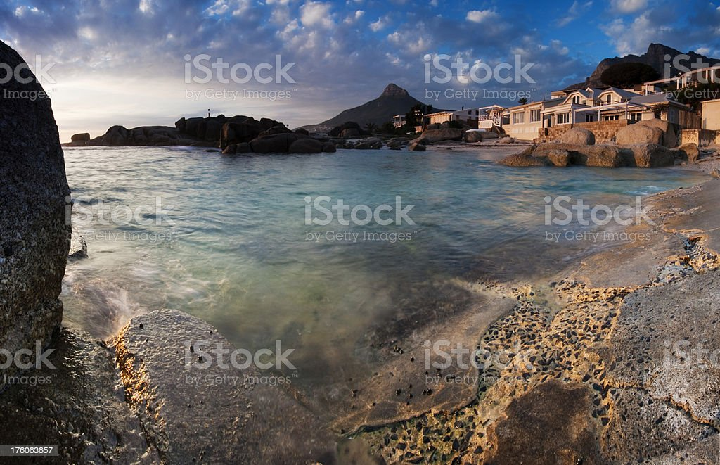 Seafront Property royalty-free stock photo