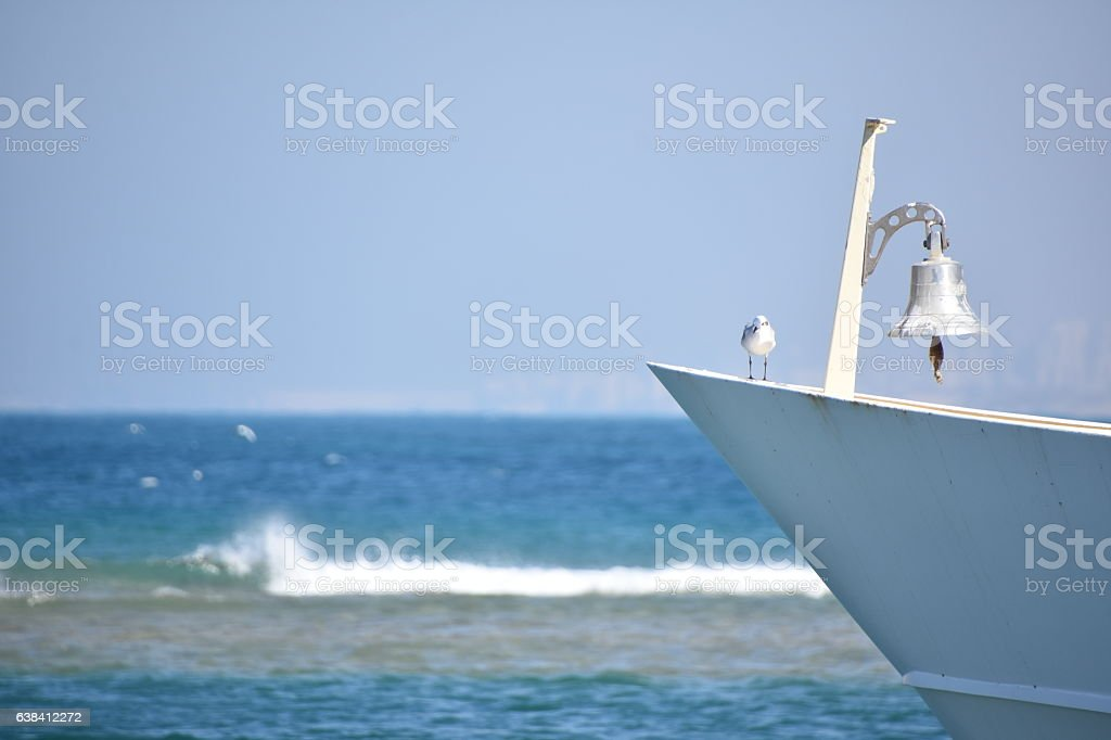 Seagull and bell stock photo