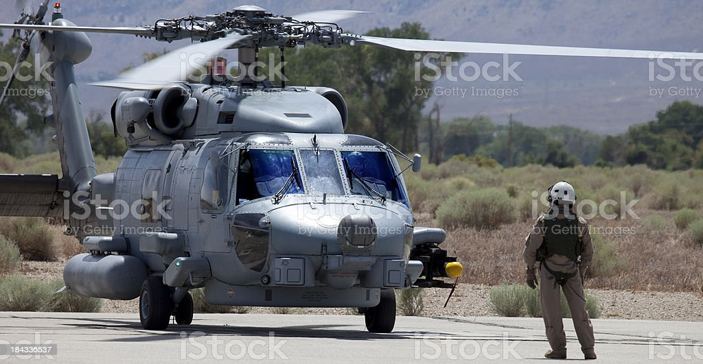 Seahawk Helicopter stock photo