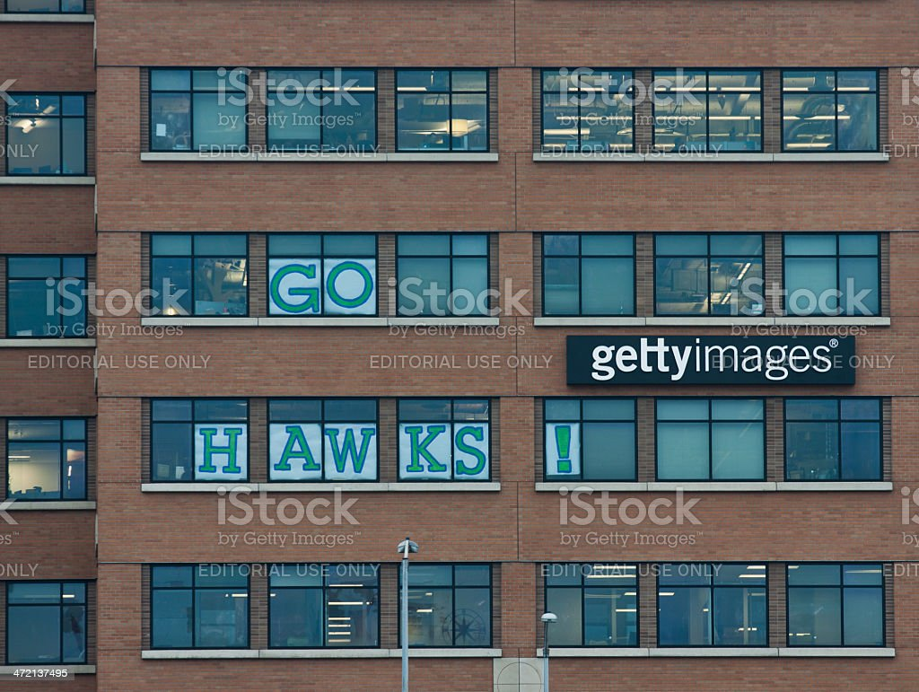 Seahawks Fans At Getty Images stock photo