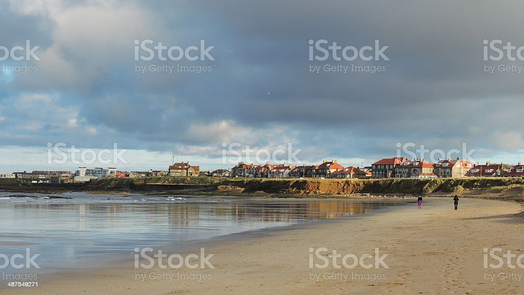 Seahouses beach stock photo