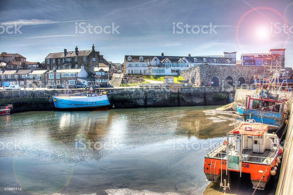 Seahouses, Northumberland stock photo