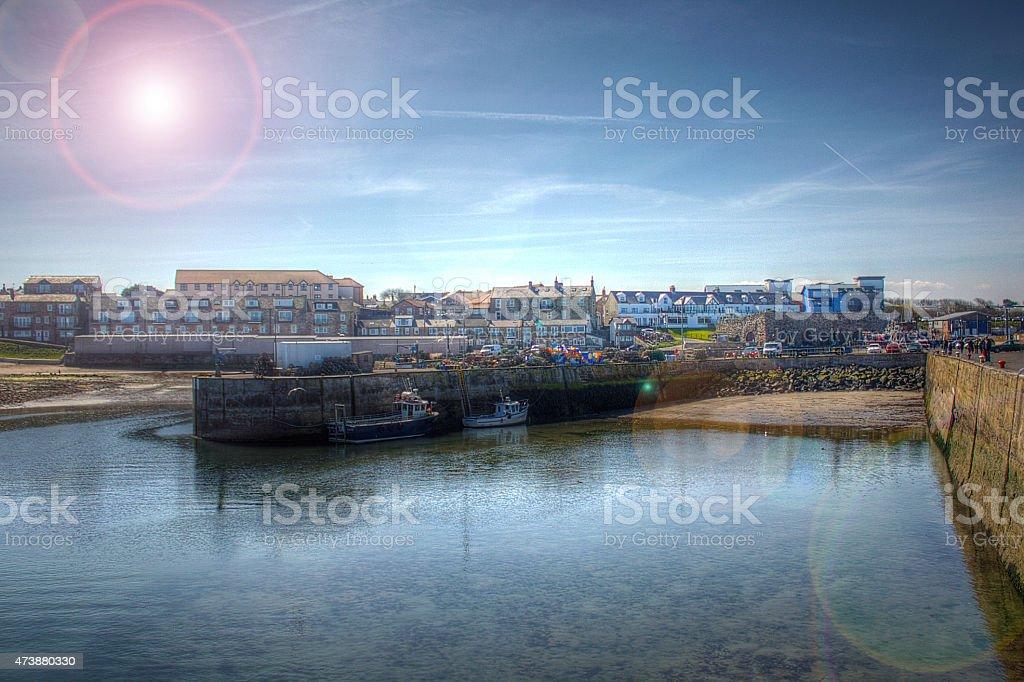 Seahouses stock photo
