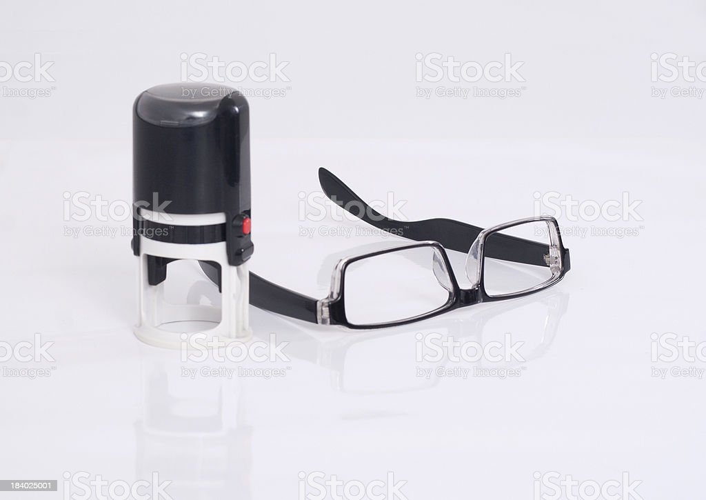 Seal and Glasses royalty-free stock photo