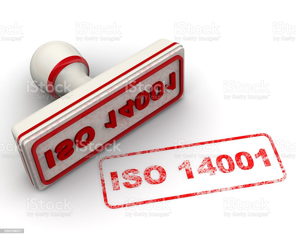 ISO 14001. Seal and imprint stock photo