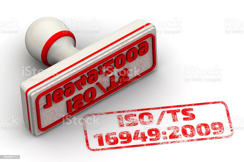 ISO/TS 16949:2009. Seal and imprint stock photo