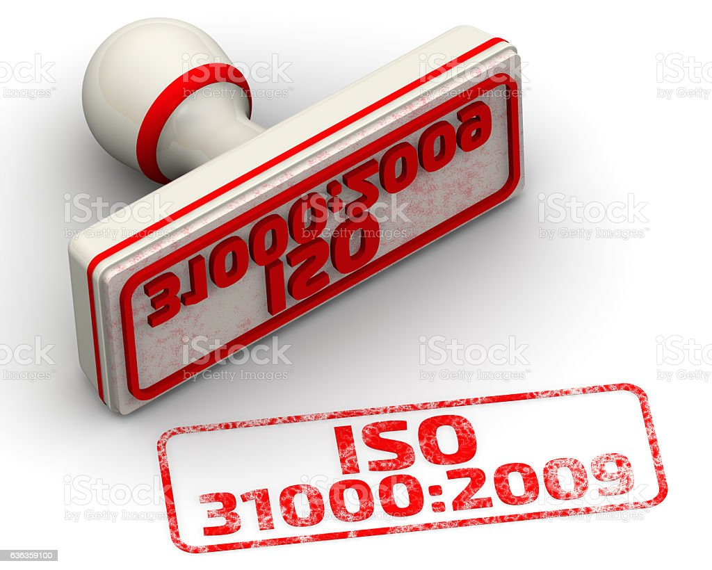 ISO 31000:2009. Seal and imprint stock photo