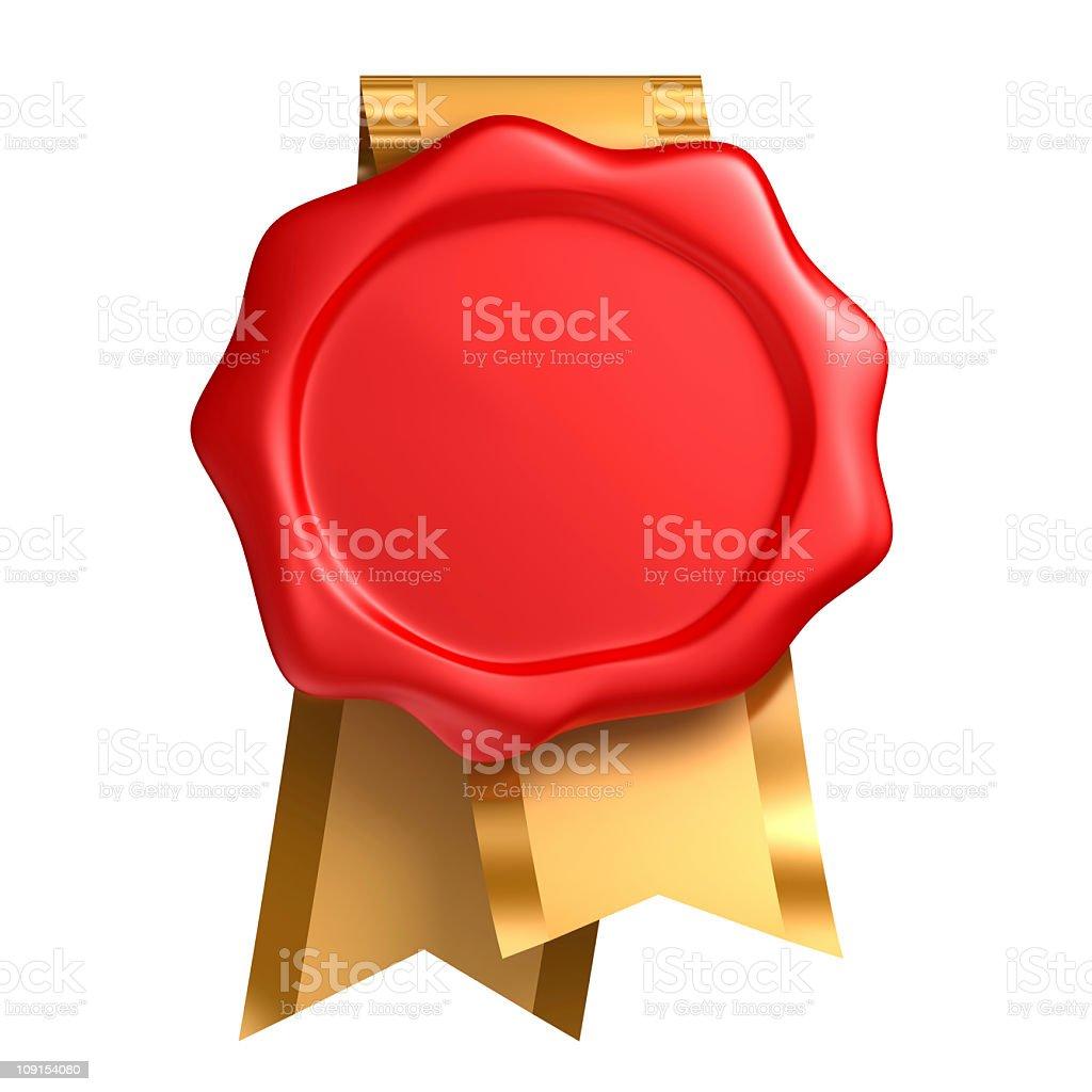 seal and ribbon royalty-free stock photo
