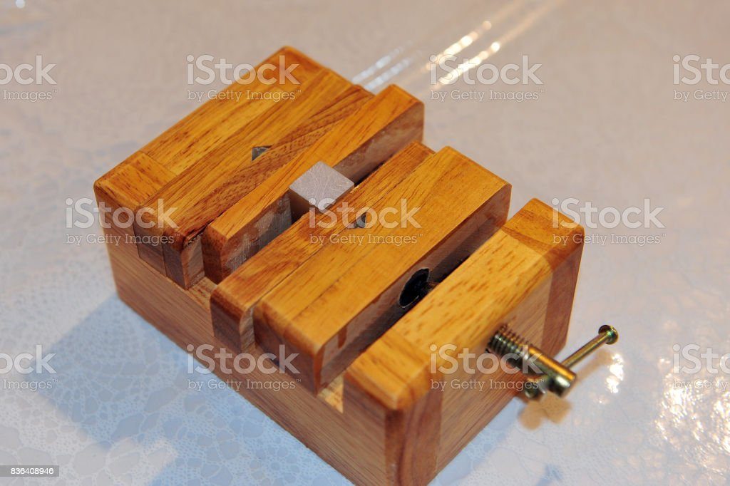 A seal carving frame stock photo