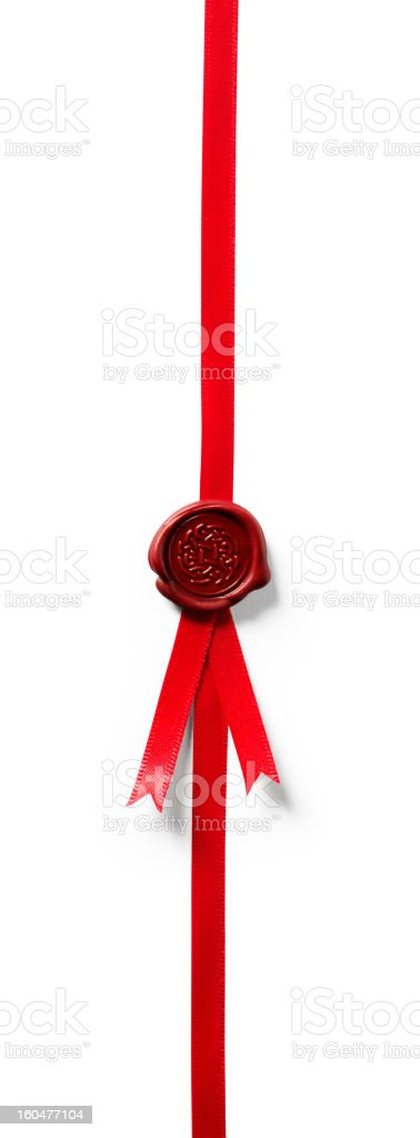 Seal of Approval Isolated royalty-free stock photo