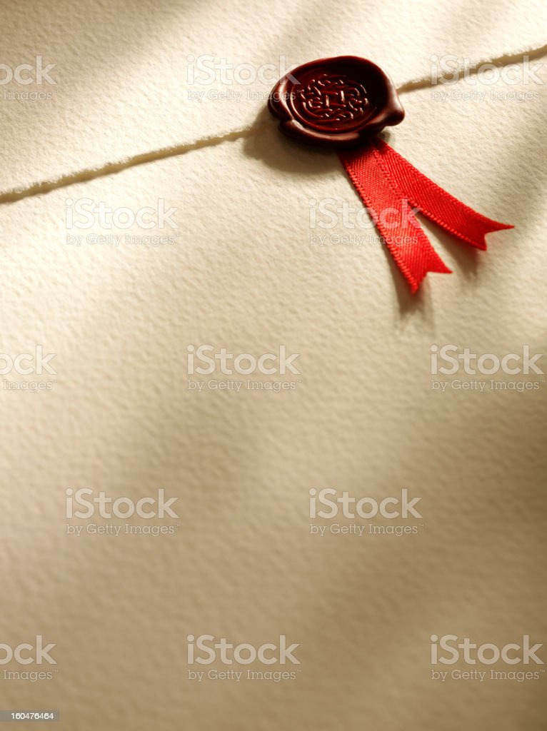 Seal of Approval on Paper royalty-free stock photo