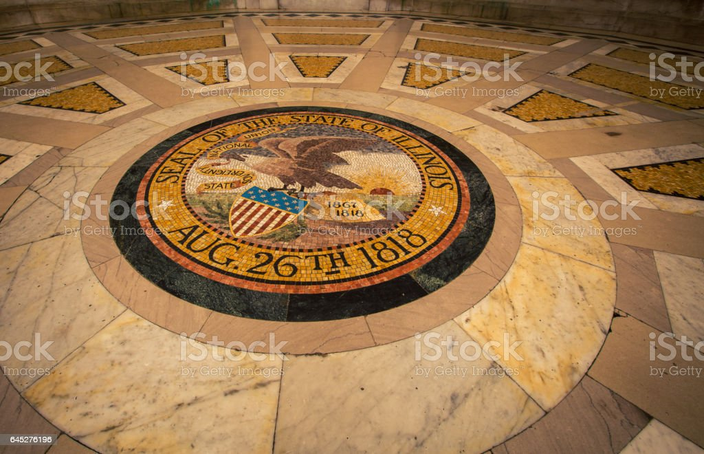 seal of state of Illinois stock photo