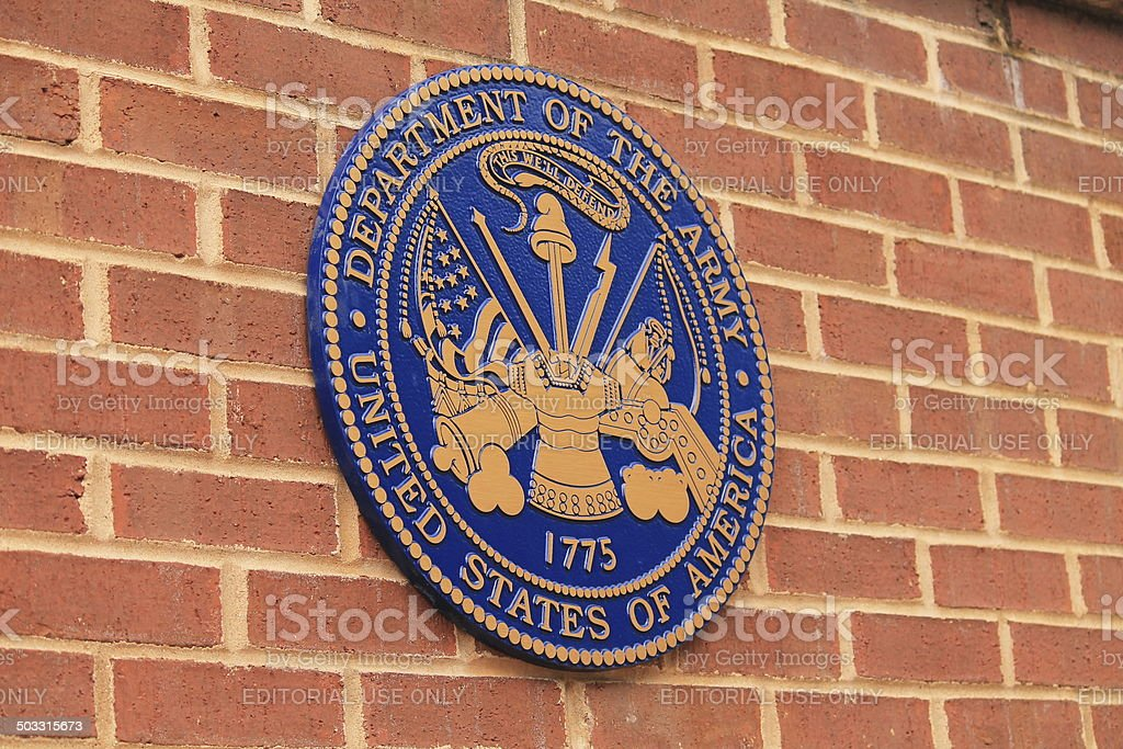 Seal of the US Army stock photo