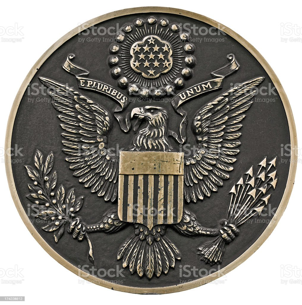 seal of the us stock photo