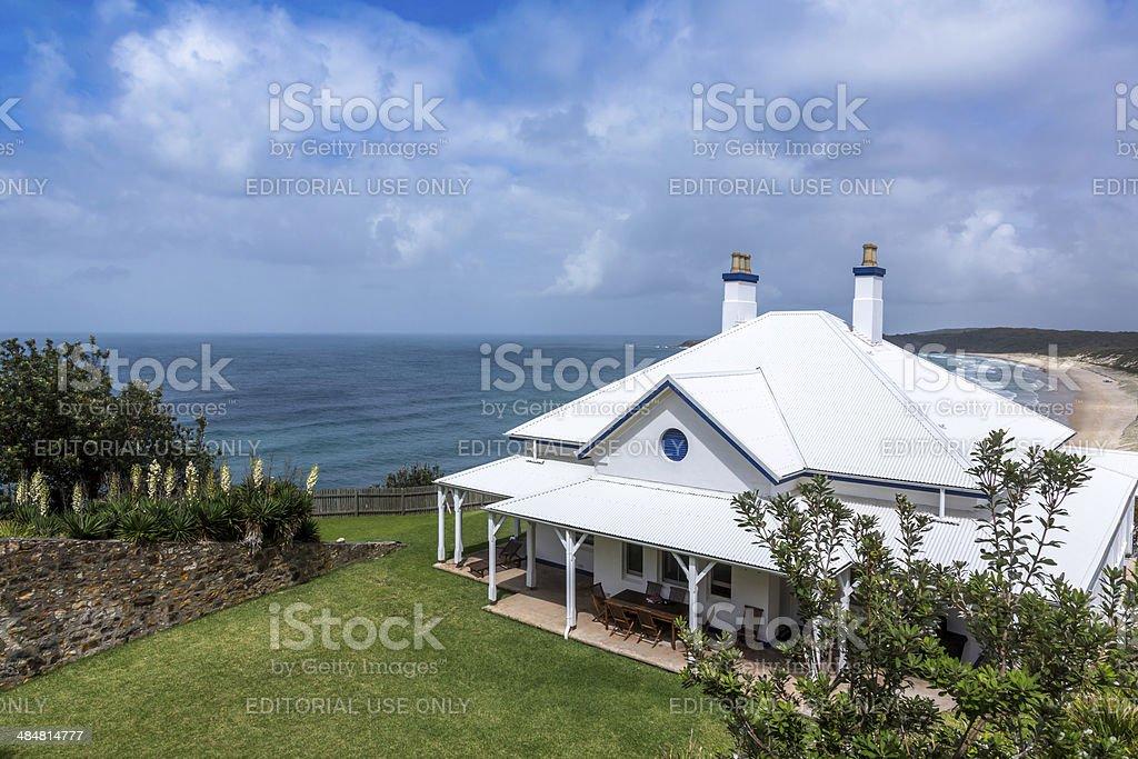 Seal Rocks Lighthouse Cottages, Australia stock photo
