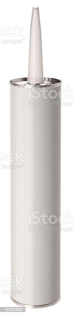 Sealant tube stock photo