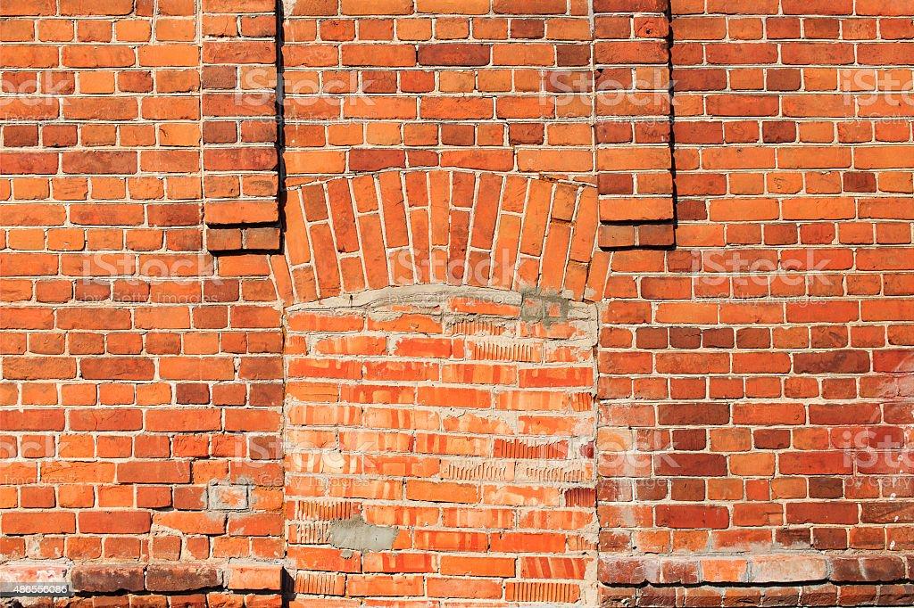sealed entrance bricks stock photo