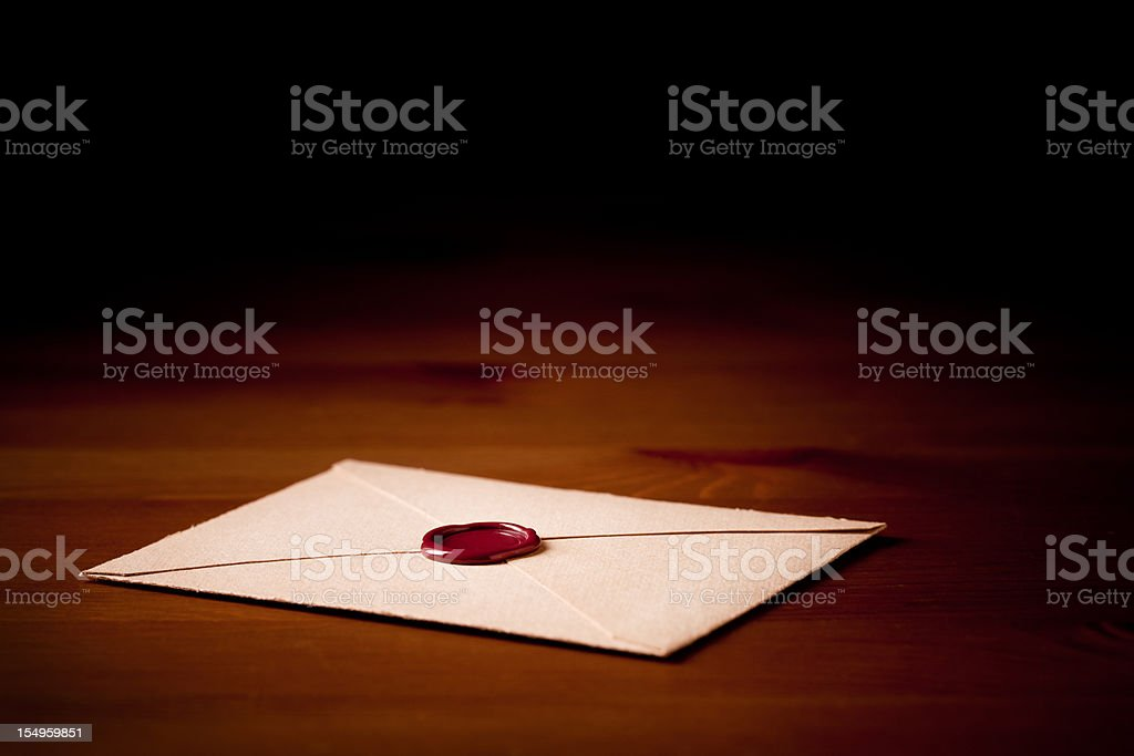 Sealed mail royalty-free stock photo
