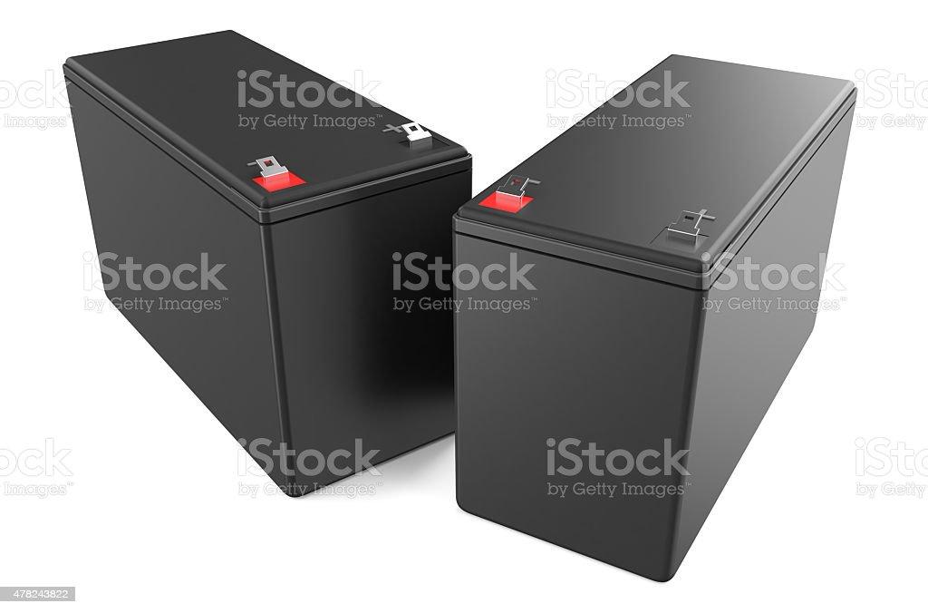 Sealed UPS batteries stock photo