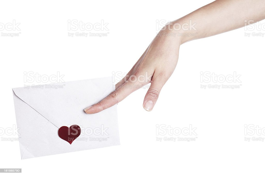 Sealed with love royalty-free stock photo