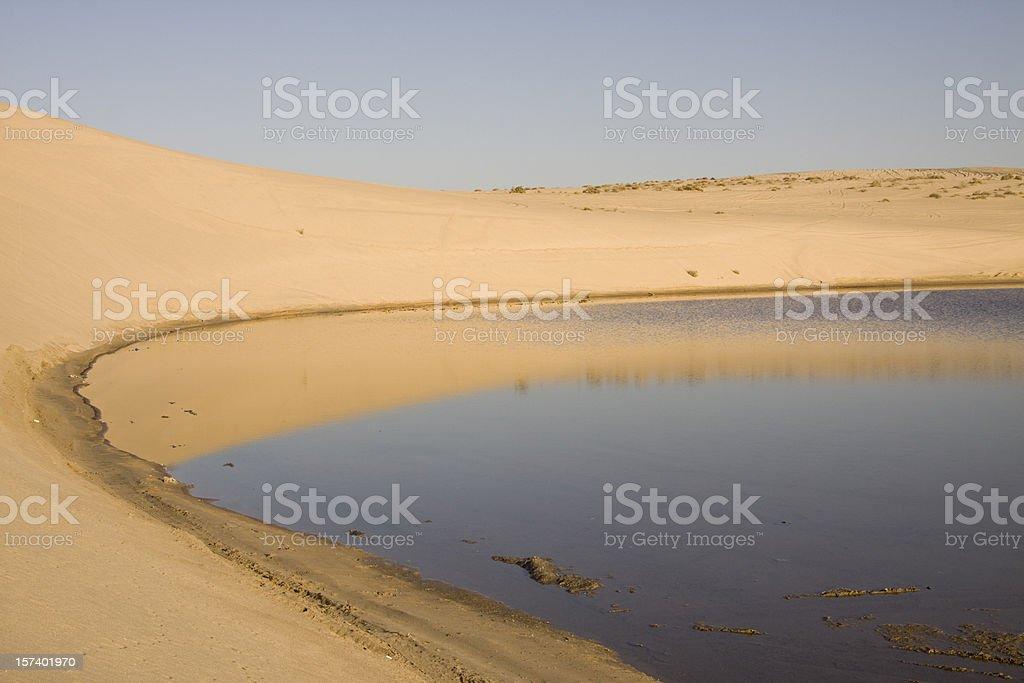 Sealine desert in Qatar stock photo
