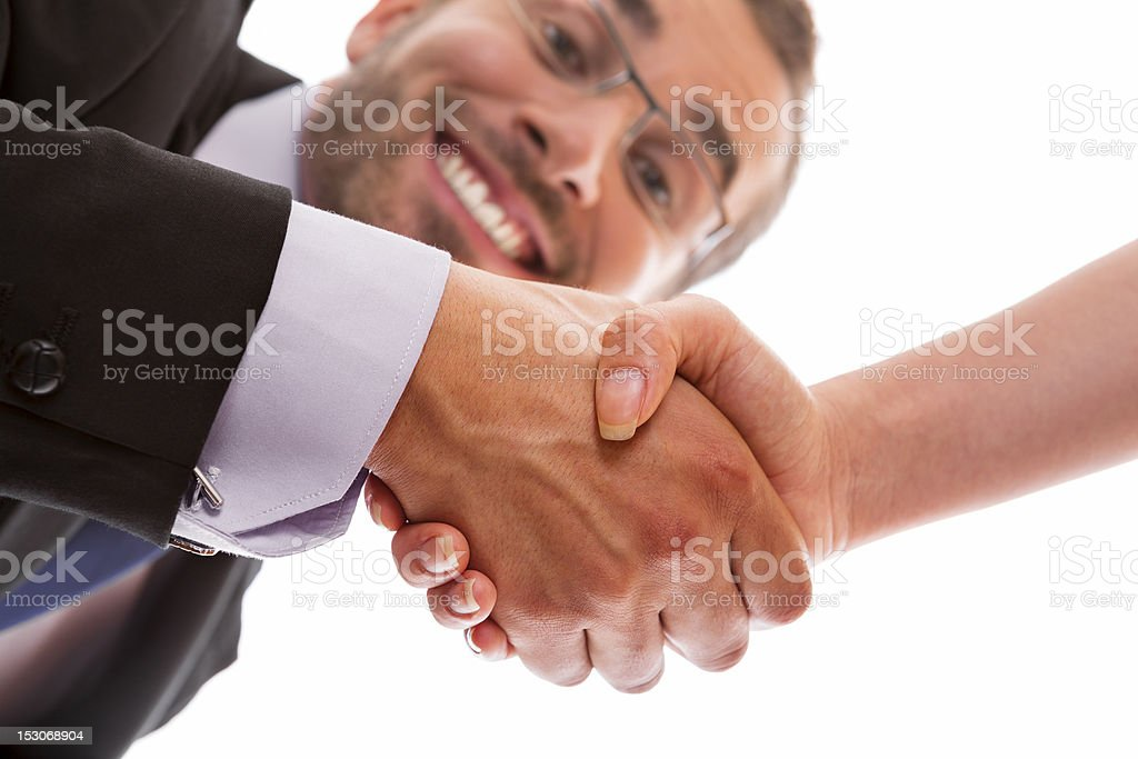 Sealing a deal royalty-free stock photo