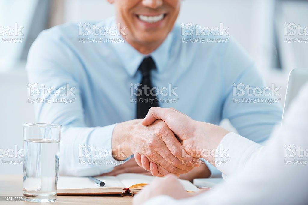 Sealing a deal. stock photo