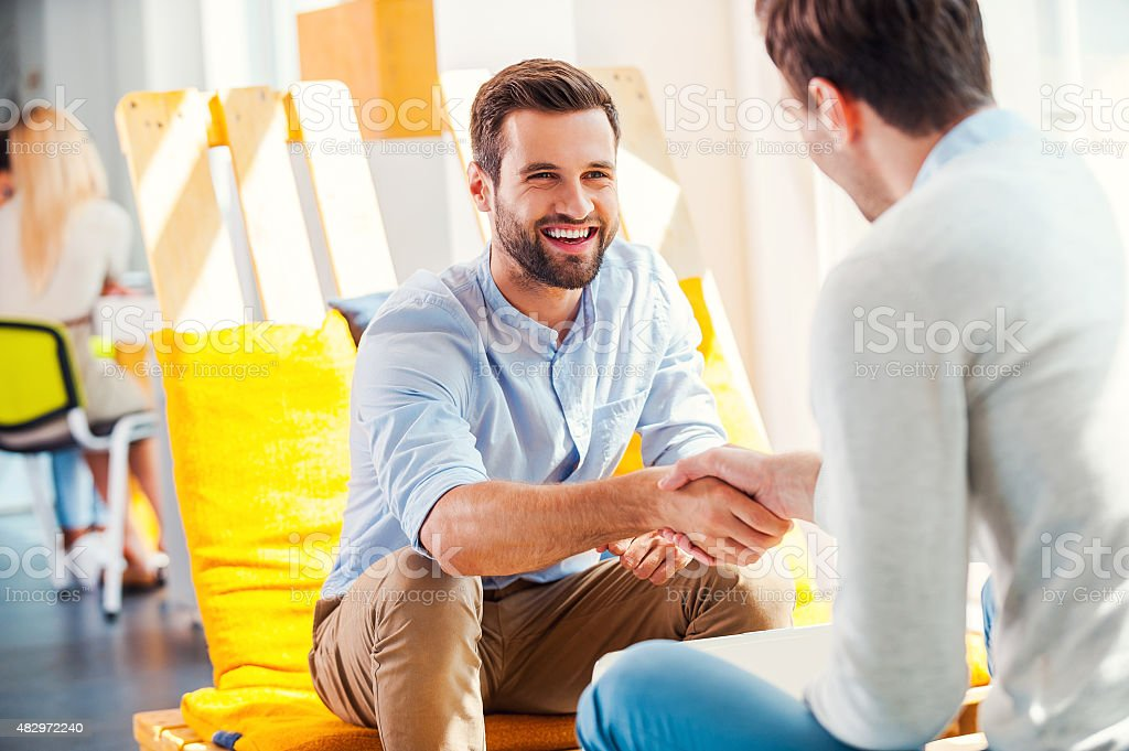 Sealing a deal! stock photo