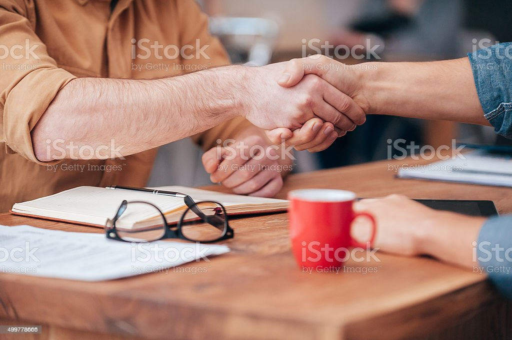 Sealing a deal. stock photo