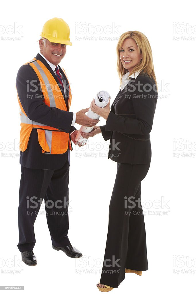 Sealing the Construction Deal royalty-free stock photo